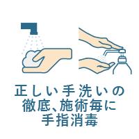 入店時の手指消毒